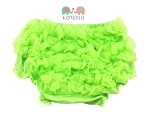 Lime Green Chiffon Ruffle Diaper Cover